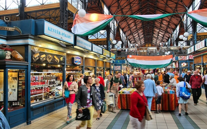 השוק המקורה של בודפשט - מגוון של מאכלי רחוב הונגריים