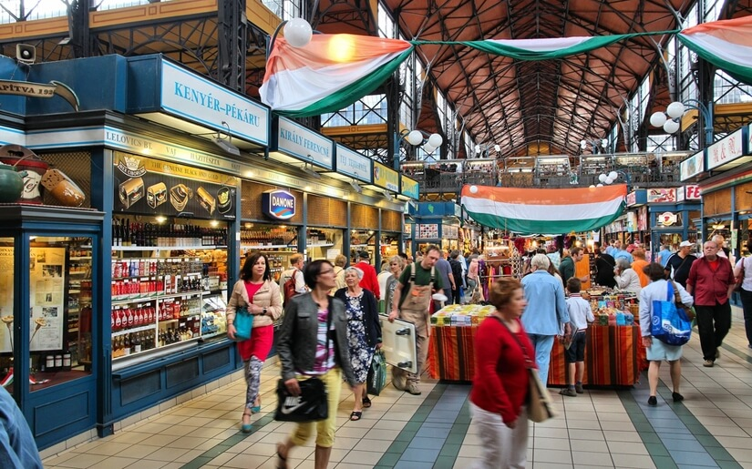 השוק הססגוני של בודפשט